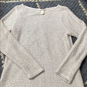 H&M cream textured sweater